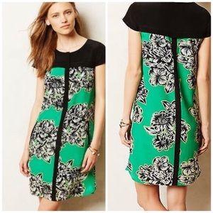 Anthropologie Maeve Ayame Silk Floral Dress